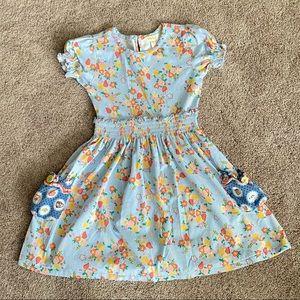 Light blue, Floral Lap-Dress by MJC